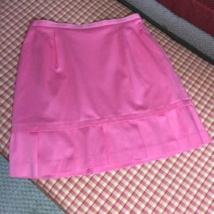 EUC Michele pink pencil skirt/pleated hemline